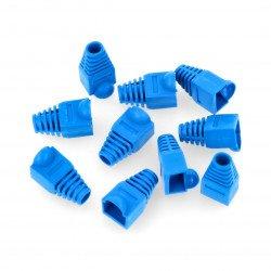 Flexible rubber connector RJ45 8P8C blue LXKDCA17 - 10 pcs.