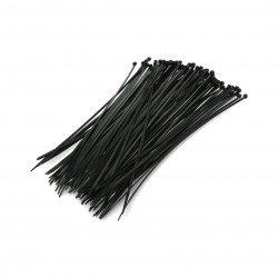 Vorel plastic ties black - 100 pieces.