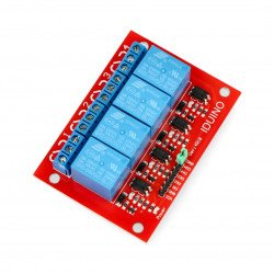 Iduino4 channel relay module - 10A/240VAC contacts - 5V coil