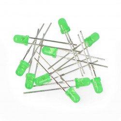 LED 3mm green - 10pcs