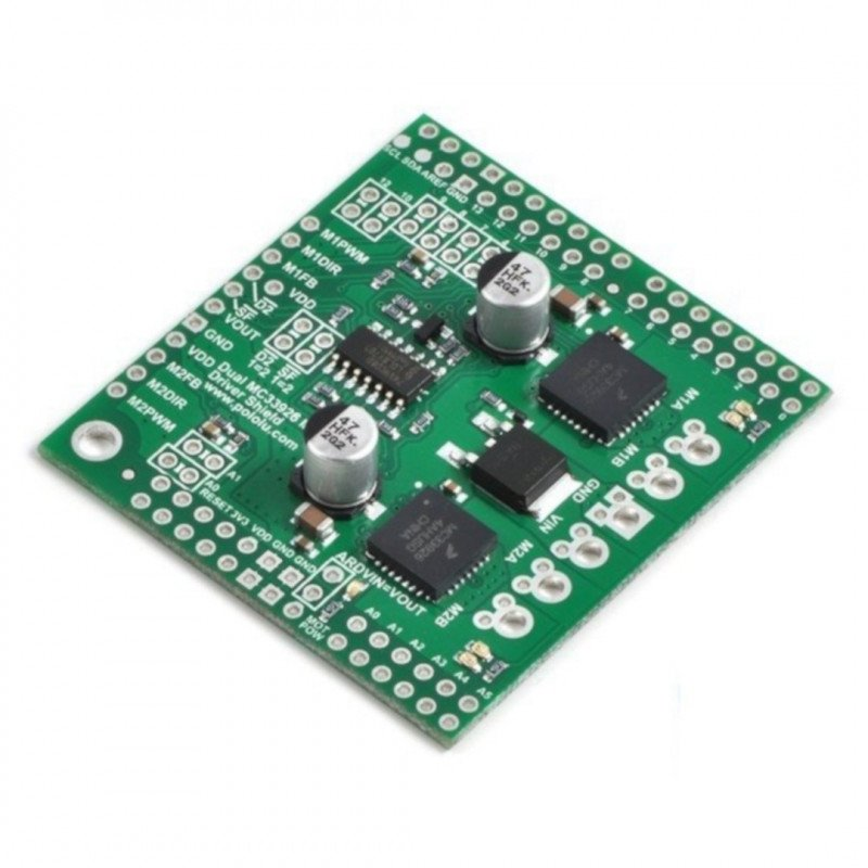 MC33926 2-channel motor driver 28V/3A - Shield for Arduino -