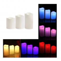Set of LED candles - candles 3pcs. + Remote control