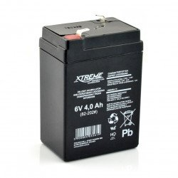Gel rechargeable battery 6V 4Ah Extreme