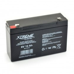 Gel rechargeable battery 6V 12Ah Xtreme