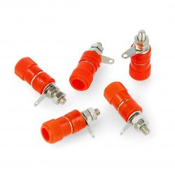 AL2437 socket - red - 4mm