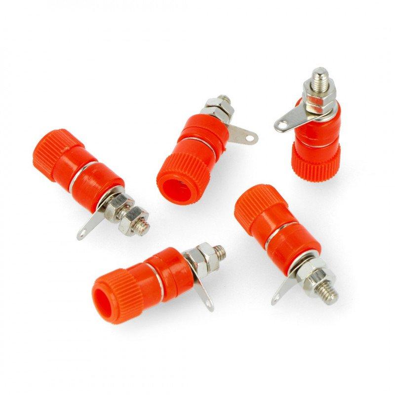 AL2437 socket - red - 4mm