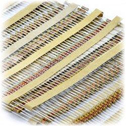 Set of CF THT 1/4W resistors described - 330pcs.