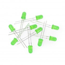 LED 5mm green flashing - 10pcs