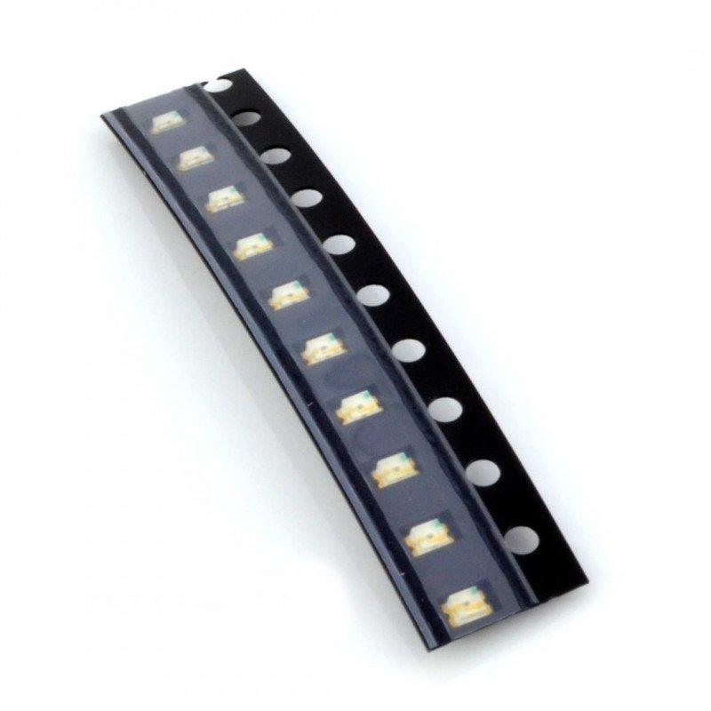 Dioda LED smd 0805  żółta 10 szt.