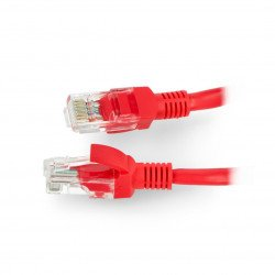 Ethernet Patchcord UTP 5e 0,25m - red