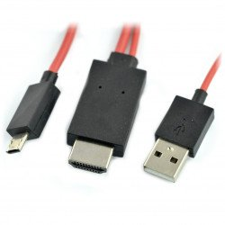 MHL 11 pin cable - microUSB, HDMI and USB