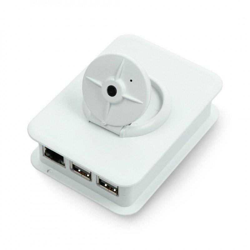 Housing for camera and Raspberry Pi Model 3/2/B+ - light grey