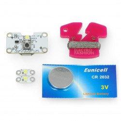Electro-Fashion set with three LED modules