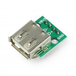 Module with USB socket type A - soldered-in connectors
