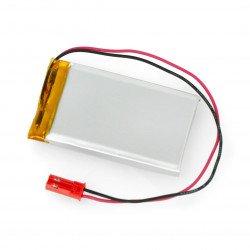Akyga Li-Pol cell 1100mAh 1S 3,7V - JST-BEC connector + socket - 55x32x6,2mm