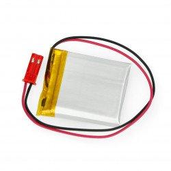 Battery Li-Pol Akyga 400mAh 1S 3.7V - JST-BEC connector + socket - 35x30x4mm