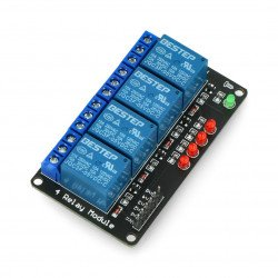 Relay module 4 channels - 10A/250VAC contacts - 5V coil