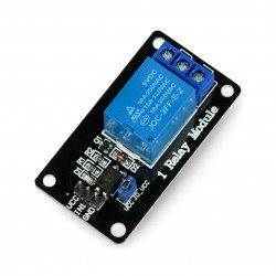 Relay module 1 channel with optoisolation - 10A/250VAC contacts
