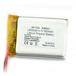Li-Pol Akyga 560mAh 1S 3.7V Li-Pol Akyga battery