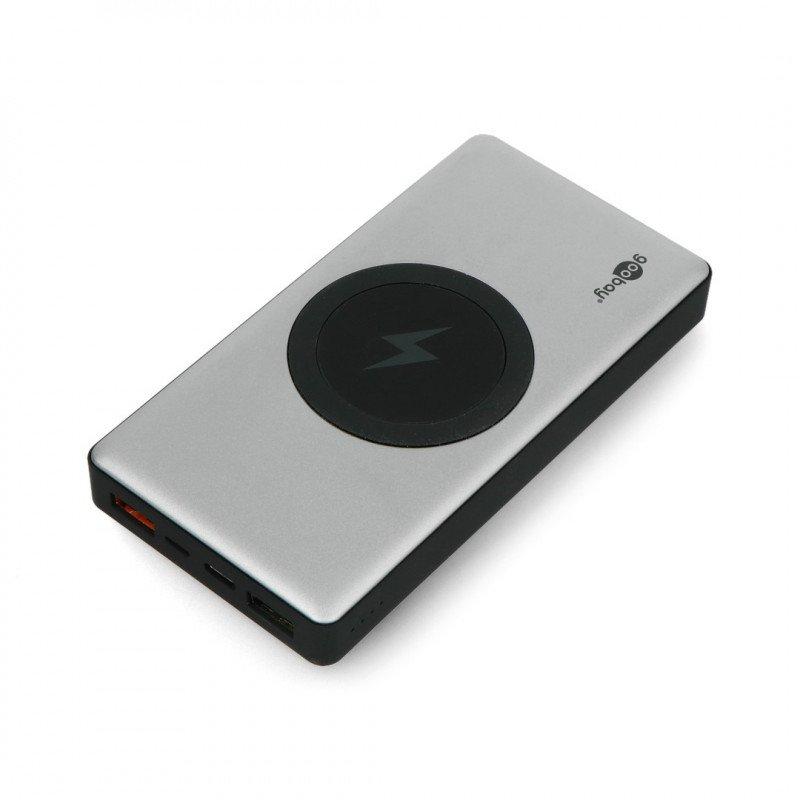 Mobile PowerBank Goobay Wireless 10.0 55152 Quick Charge 3.0 10000mAh - grey - black