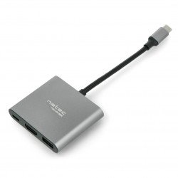 Hub - Multiport Natec Fowler Mini - USB-C PD HDMI - Gray