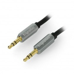 Kruger&Matz Jack 3.5mm stereo black cable - 1.8m