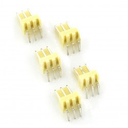 2,54 mm - angular plug 3-pin - 5 pcs