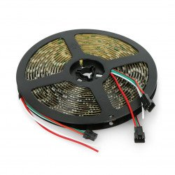 RGB LED bar WS2812B - digital, addressed - IP65 60 LED/m, 18W/m, 5V - 5m - black