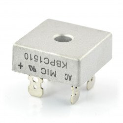 Rectifying bridge KBPC1510 - 15A / 1000V with connectors