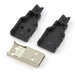 USB plug type A - for plastic cable
