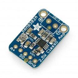 Mono audio amplifier PAM8302 - Adafruit
