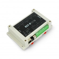 Ethernet controller with 8-channel relay - RLY-8-POE-USB