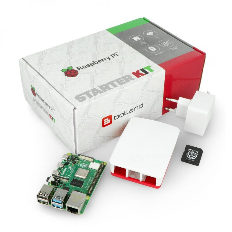 Raspberry Pi 4B WiFi 1GB RAM - Official - with graphite housing