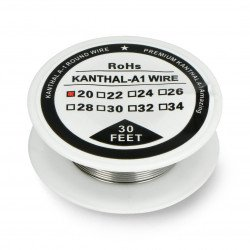Resistance wire Kanthal A1 0.81mm 2.85Ω/m - 9.1m