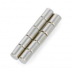 Round neodymium magnet N35/Ni - 3x4mm