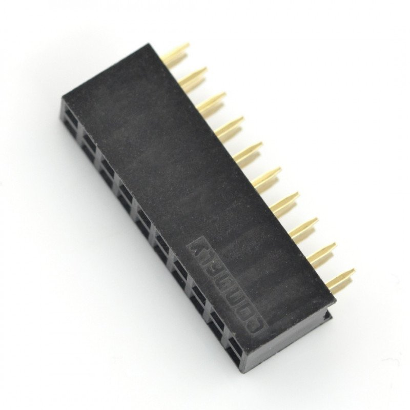 Female connector 2x10, 2.54 mm pitch