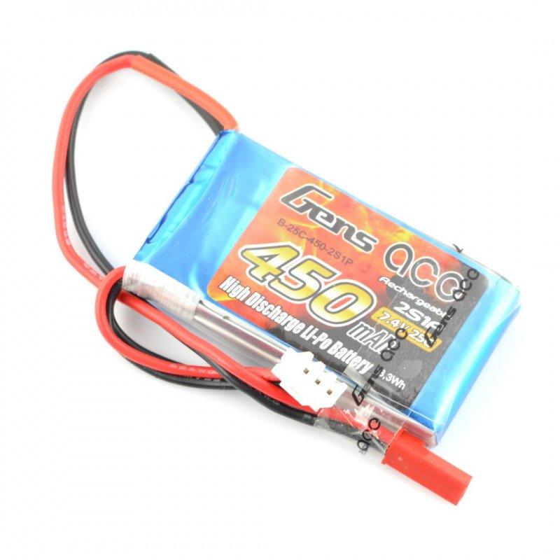 Li-Pol Gens Ace 450mAh 25C 2S 7.4V