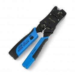 Plug crimping machine RJ45, RJ12, RJ11 + cable tester - Lanberg NT-0203