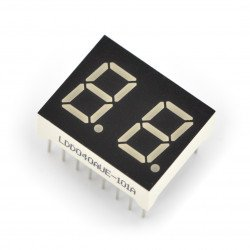 Dual alphanumeric display - 10mm red - wsp cathode