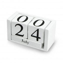 Wooden block calendar - black
