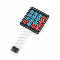 Numeric self-adhesive membrane keyboard - 16 keys