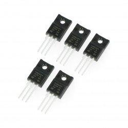 N-MOSFET Transistor STP10NK60ZFP - THT - 5pcs.