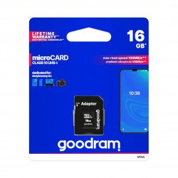 Memory card Goodram micro SD / SDHC 16GB UHS-I class 10 with adapter