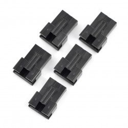 4-pin male connector housing - 2.5mm raster