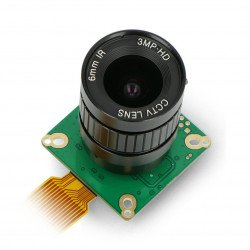 Camera IMX477 12.3MPx HQ with 6mm CS-Mount lens - for Raspberry Pi - ArduCam B0240