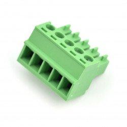 Assembly bar female 5-pin, raster 3,5mm