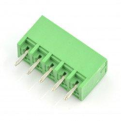 Assembly bar male 5-pin, raster 3,5mm, vertical