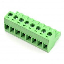 Assembly bar female 8-pin, raster 5,08mm
