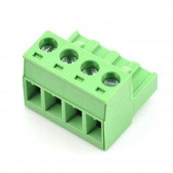 Assembly bar female 4-pin, raster 5,08mm, steel