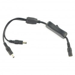 Adapter DC 5,5/2,1mm with switch - 2 pcs